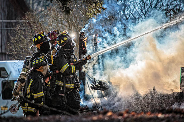 Firemen Photograph - Firefighters by Everet Regal