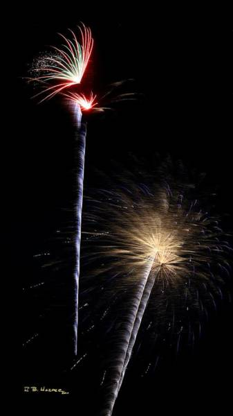 Photograph - Fireworks At St Albans Bay by R B Harper