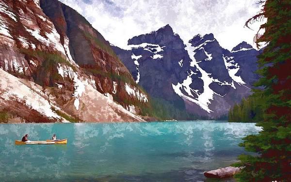 Clarity Digital Art - Fishing On Lake Louise by Allen Beatty