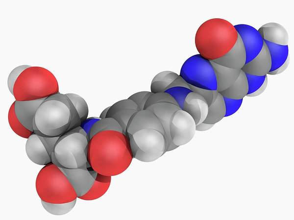 Wall Art - Photograph - Folic Acid Vitamin B9 Molecule by Laguna Design/science Photo Library