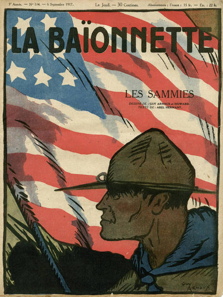 First Star Drawing - Front Cover Design, La Baionnette, An by Mary Evans Picture Library