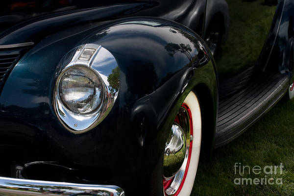Photograph - Front Side Of A Classic Car by Gunter Nezhoda