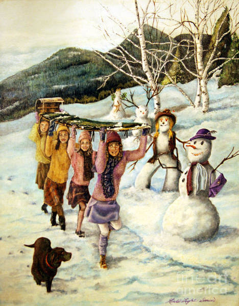 Annual Painting - Frosty Frolic by Linda Simon