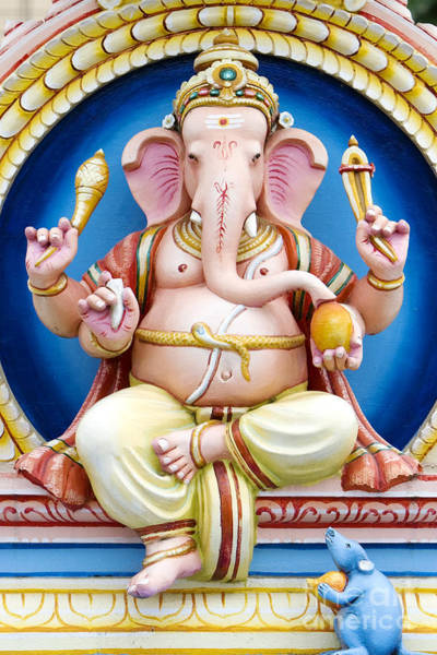 Photograph - Colourful Ganesha by Tim Gainey