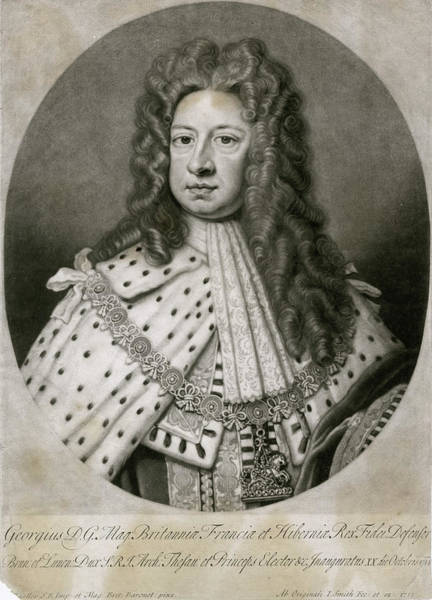Wall Art - Drawing - George I King Of England         Date by Mary Evans Picture Library