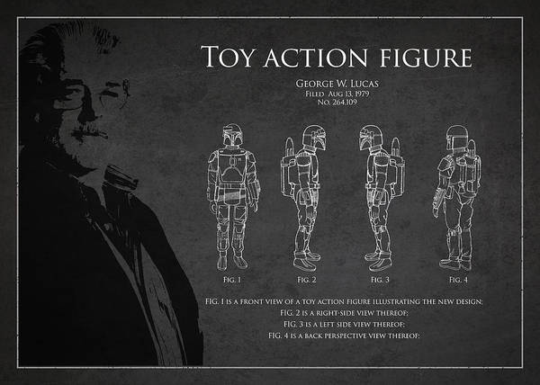 Wall Art - Digital Art - George Lucas Patent 1979 by Aged Pixel
