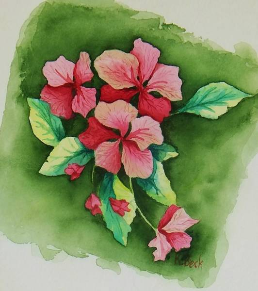 Wall Art - Painting - Geraniums by Katherine Young-Beck