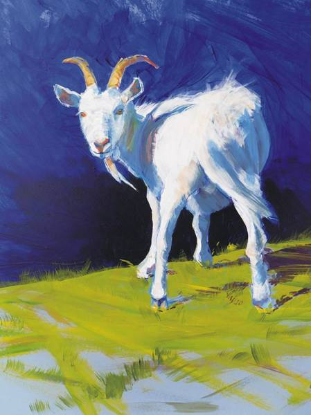Painting - Goat by Mike Jory