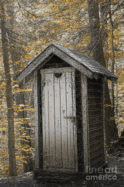 Privy Photograph - Golden Earth Closet by John Stephens