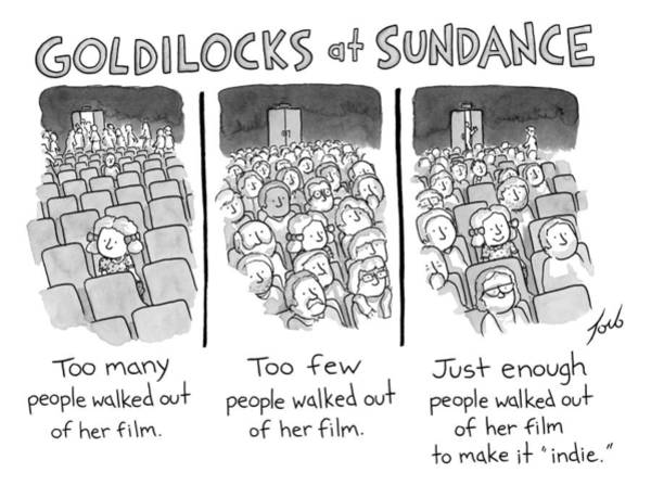 Indie Wall Art - Drawing - Goldilocks At Sundance by Tom Toro