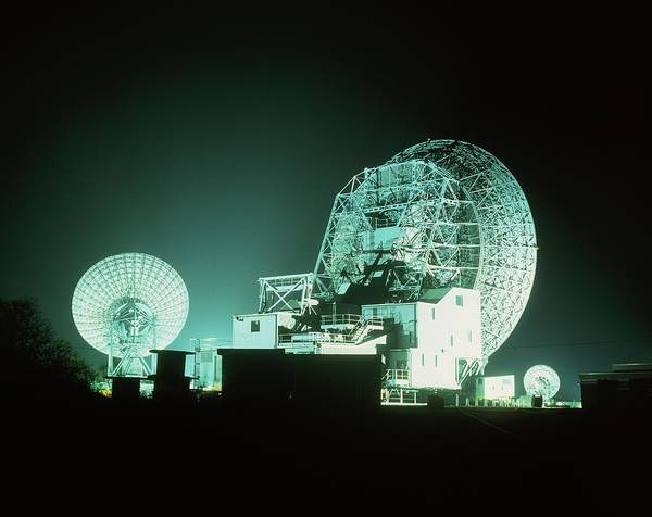 Satellite Dish Photograph - Goonhilly Satellite Earth Station by Martin Bond/science Photo Library