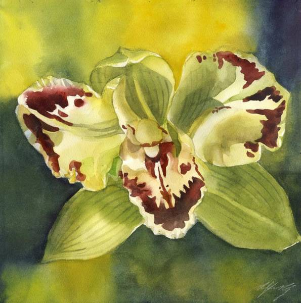 Painting - Green Orchid by Alfred Ng