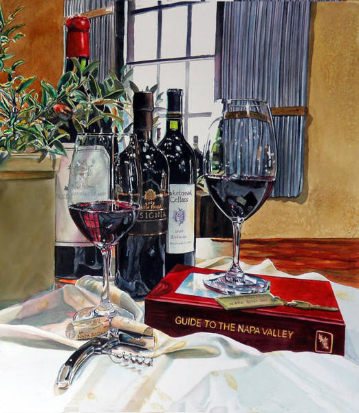 Tasting Painting - Guide To The Napa Valley by Gail Chandler