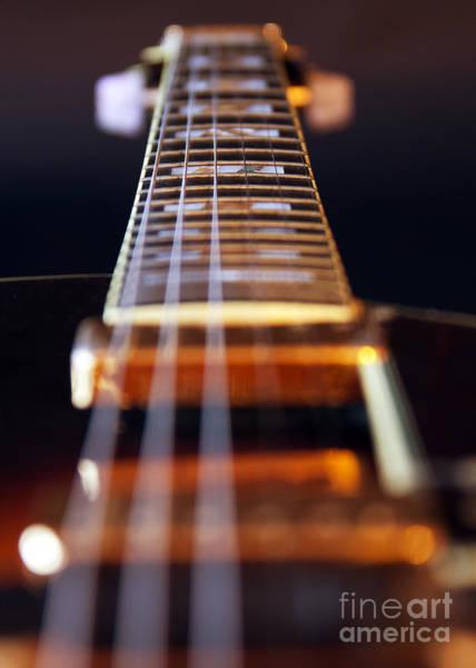 Guitar Neck Photograph - Guitar by Stelios Kleanthous