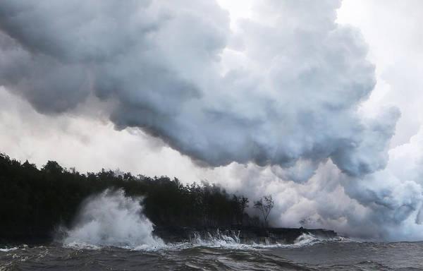 Moving Water Photograph - Hawaiis Kilauea Volcano Erupts Forcing by Mario Tama