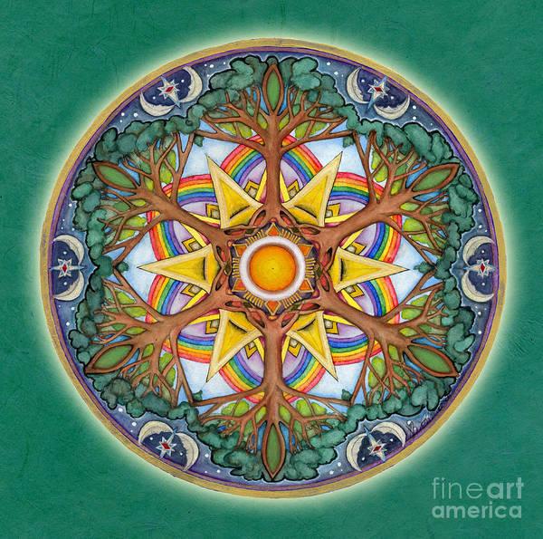 Painting - Heaven And Earth Mandala by Jo Thomas Blaine