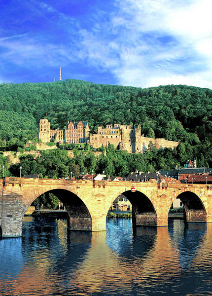 Fortification Photograph - Heidelberg, Germany, Heidelberg Castle by Miva Stock