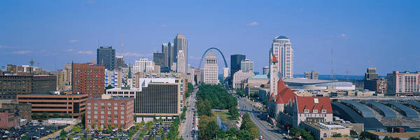 Wall Art - Photograph - High Angle View Of A City, St Louis by Panoramic Images