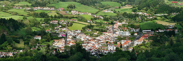 Azores Photograph - High Angle View Of Houses In A Village by Panoramic Images