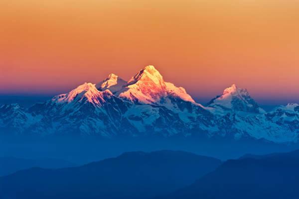 Photograph - Himalayan Mountains View From Mt. Shivapuri by U Schade