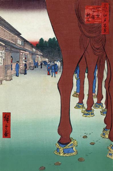 Wall Art - Painting - Hiroshige Edo, 1857 by Granger