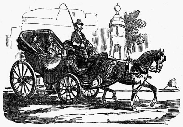 Painting - Horse Carriage, 1853 by Granger