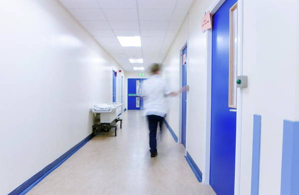 Wall Art - Photograph - Hospital Corridor by Gustoimages/science Photo Library