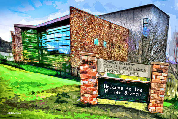 Frederick County Wall Art - Digital Art - Howard County Library - Miller Branch by Stephen Younts