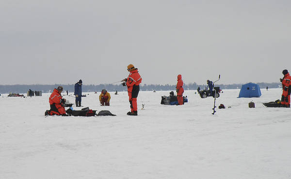Photograph - Ice Fishing by Nick Mares