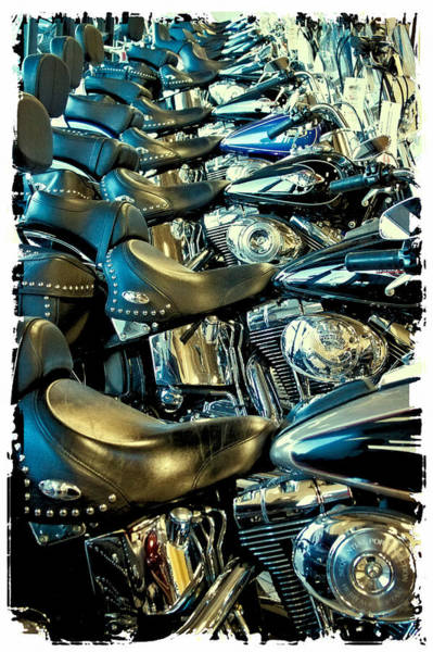 Photograph - I'll Have A Dozen Harley's To Go Please by David Patterson