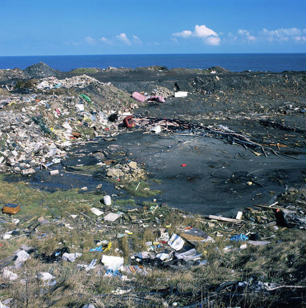 Northumbria Photograph - Illegal Waste Dump by Robert Brook/science Photo Library