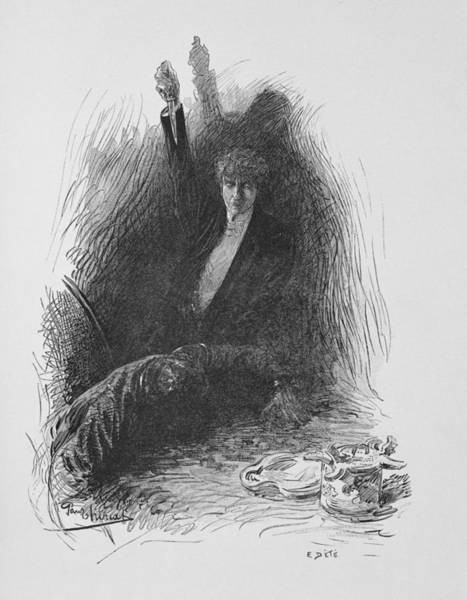 Evil Drawing - Illustration From The Picture Of Dorian by Paul Thiriat