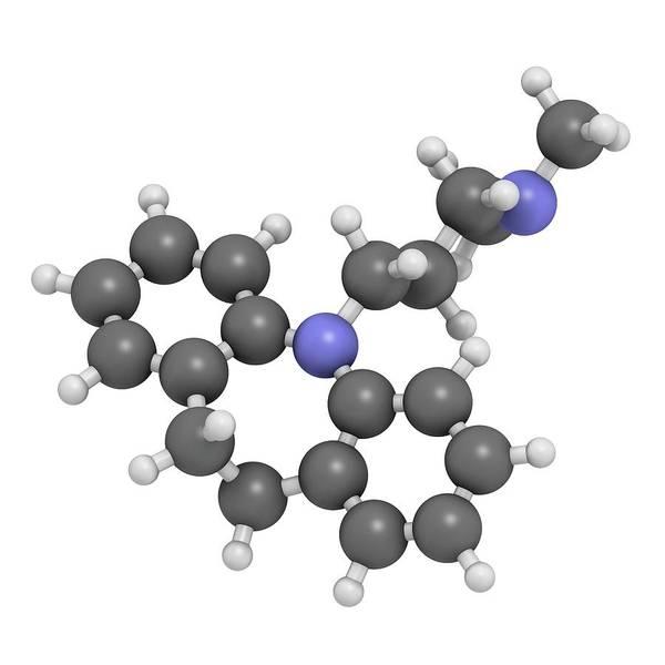Wall Art - Photograph - Imipramine Antidepressant Drug Molecule by Molekuul/science Photo Library