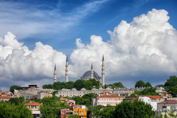 Suleymaniye Mosque Photograph - Istanbul Cityscape by Artur Bogacki
