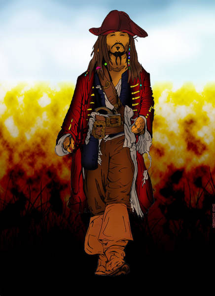 Pirates Of The Caribbean Digital Art - Jack Sparrow by Ehud Shomron