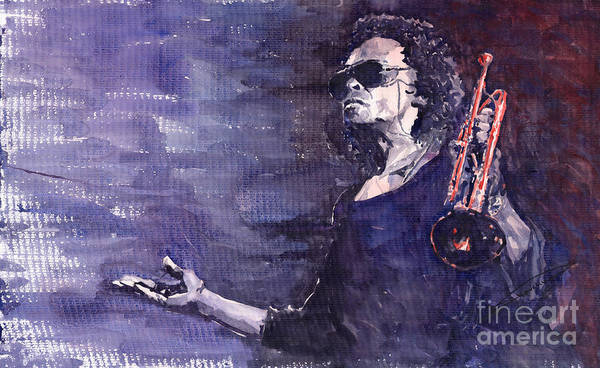 Watercolour Painting - Jazz Miles Davis by Yuriy Shevchuk