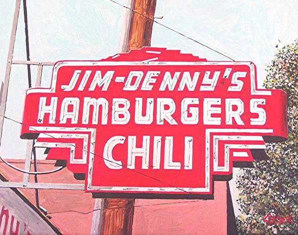 Jim Denny's Art Print by Paul Guyer
