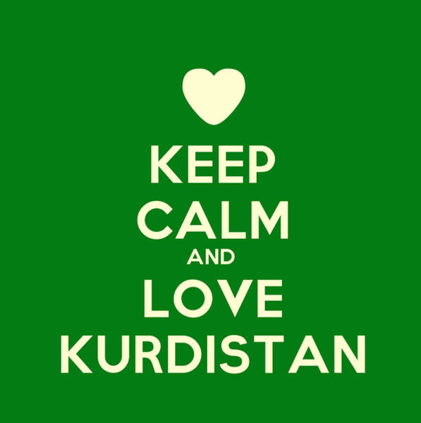 Painting - Keep Calm And Love Kurdistan by Celestial Images