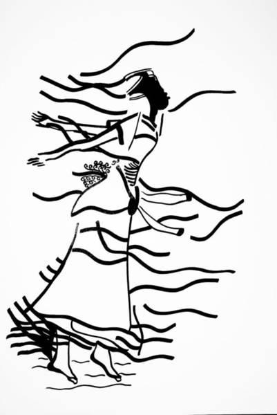 Traditional Dances Drawing - Kiganda Dance - Uganda by Gloria Ssali