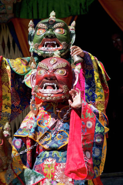 Ethnic Minority Photograph - Ladakh, India The Ceremonial Masked by Jaina Mishra