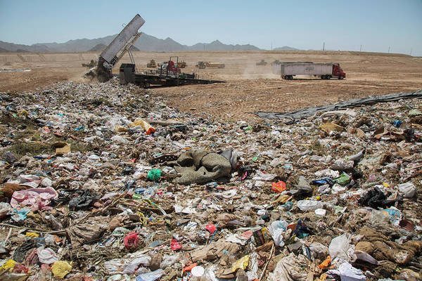 Trash Photograph - Landfill Waste Disposal Site by Peter Menzel