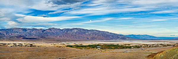 Furnace Creek Photograph - Landscape With Mountain Range by Panoramic Images