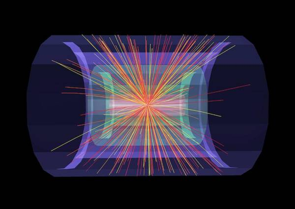 Subatomic Particle Photograph - Lead Ion Collisions by Cern/science Photo Library