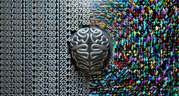 Wall Art - Digital Art - Left And Right Brain Concept by Allan Swart