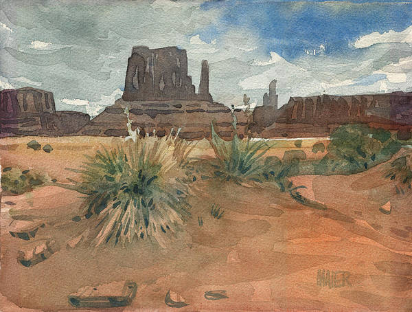 Butte Painting - Left Mitten by Donald Maier