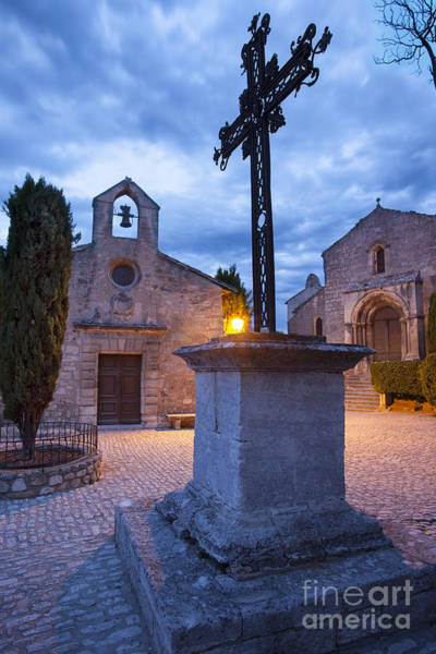 Chapelle Photograph - Les Baux Iron Cross by Brian Jannsen