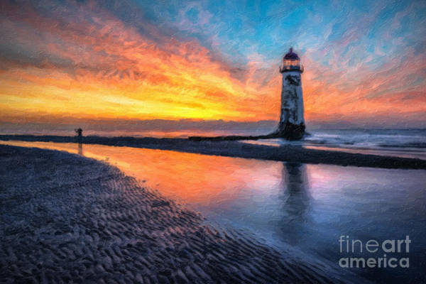 Photograph - Lighthouse Sunset by Adrian Evans