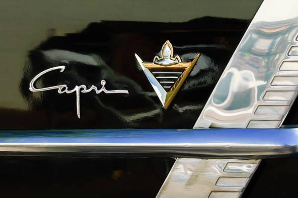 Photograph - Lincoln Capri Emblem by Jill Reger
