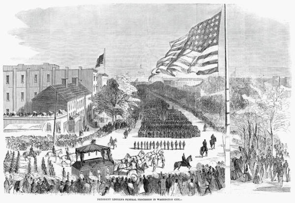 Painting - Lincoln's Funeral, 1865 by Granger