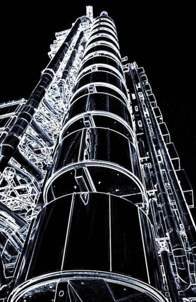 Insurance Digital Art - Lloyd's Building London Art by David Pyatt